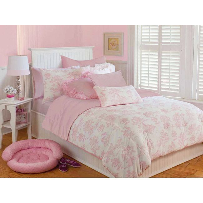Bedroom Decorating Ideas Totally Toile: Microplush Pink Toile Full/ Queen-size 3-piece Comforter