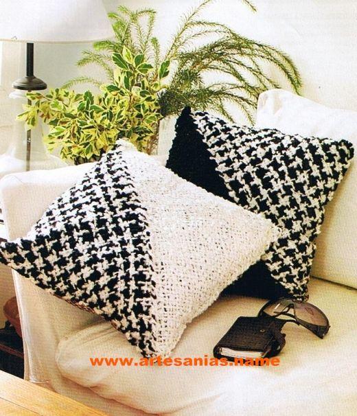 Almohadones en bastidor triangular telar throw pillows - Como hacer almohadones ...