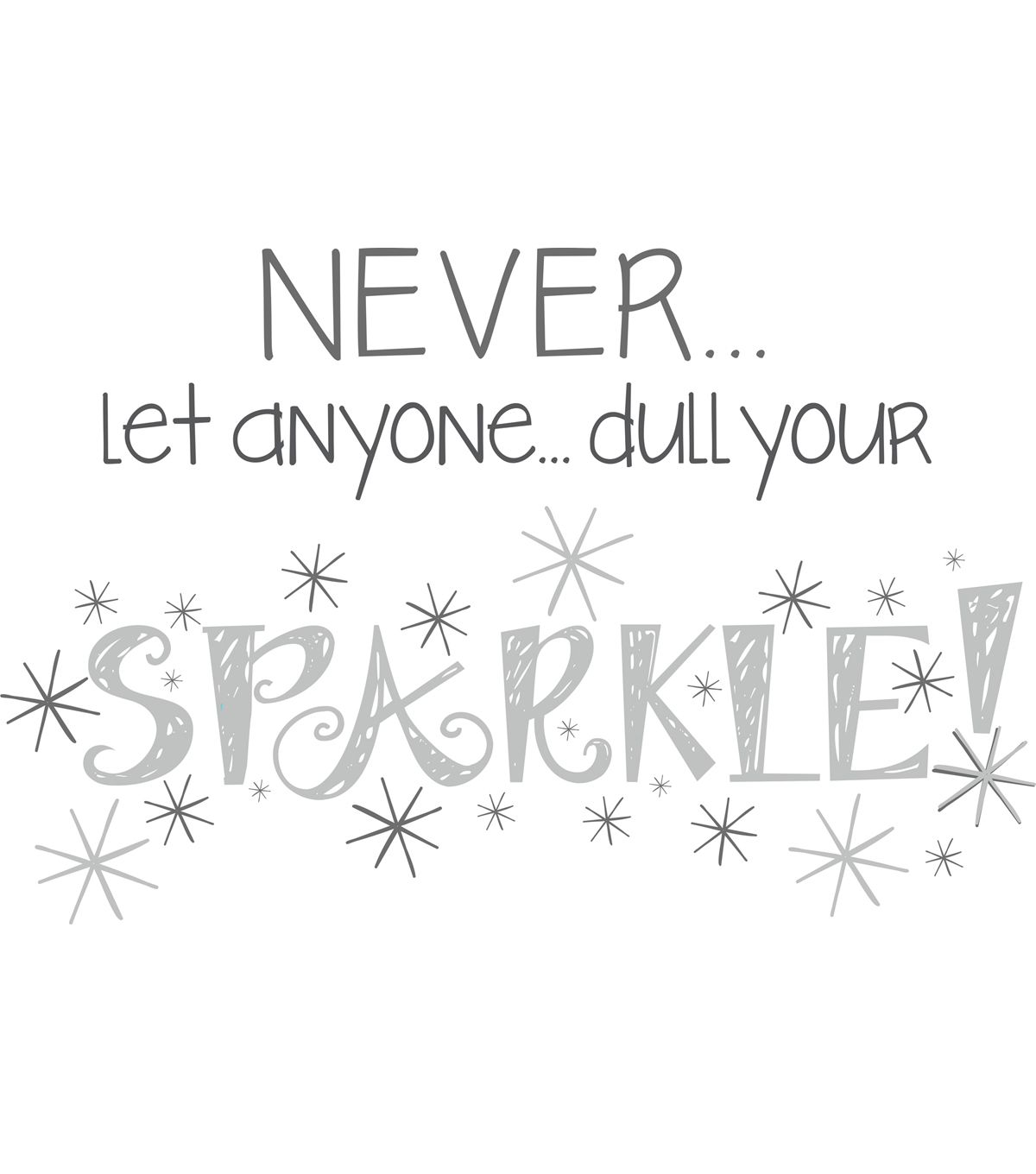 Wall pops sparkle wall quote decals 23 x 15 art journals and wall pops sparkle wall quote decals amipublicfo Images