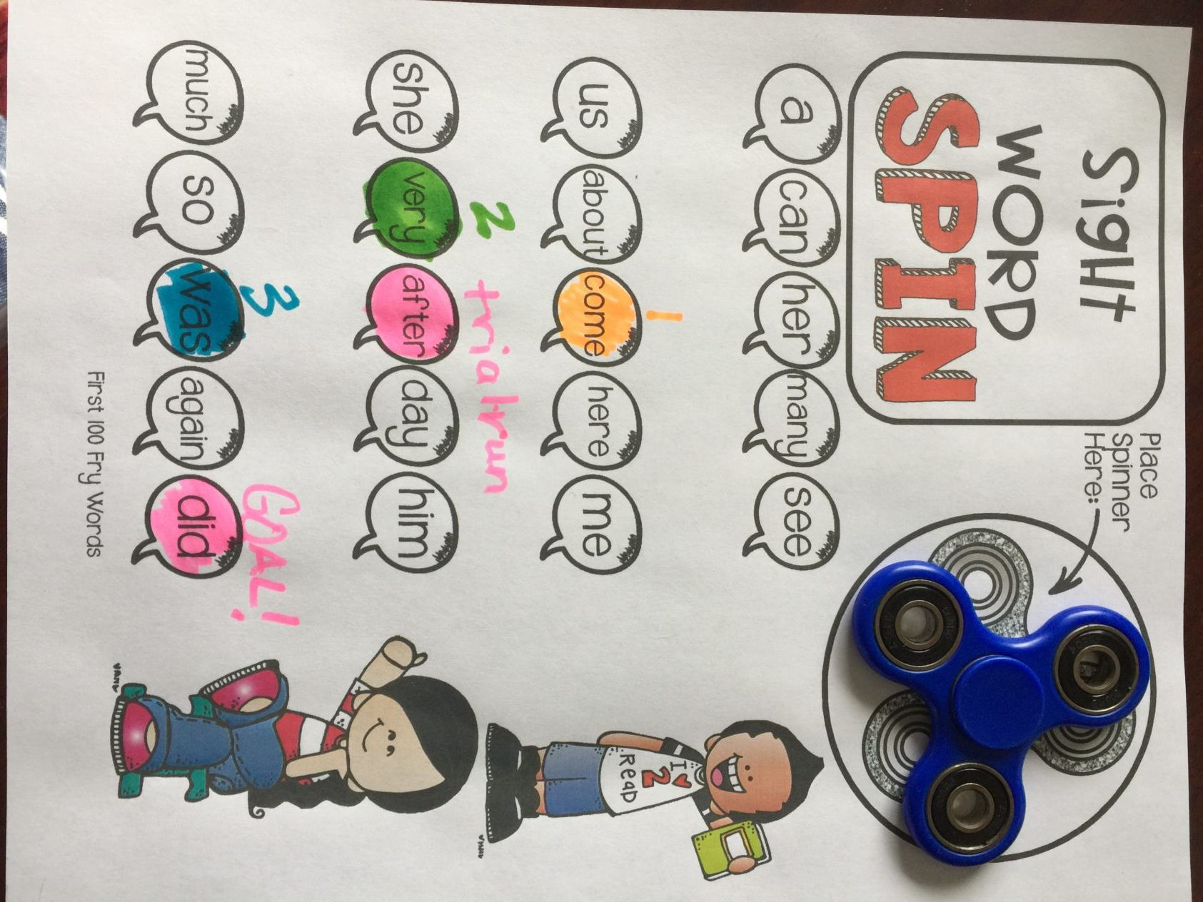 Student Can Color Stopping Point Of Each Fluency Attempt