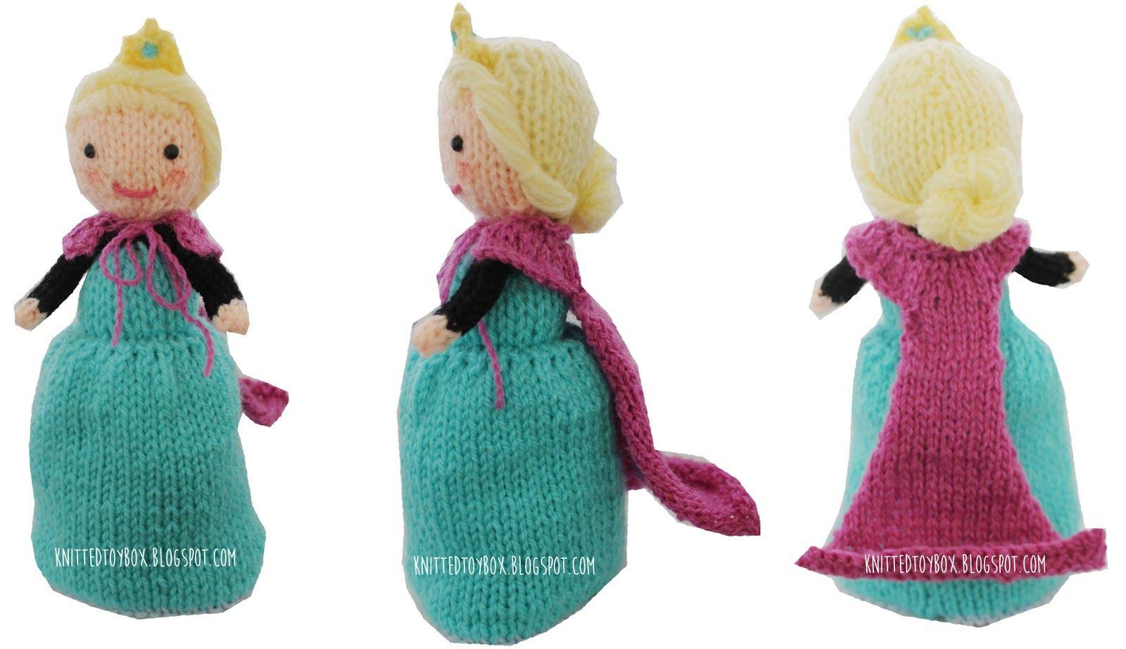 Knitted Toy Box: Elsa Frozen Flip Doll | Knitting | Pinterest