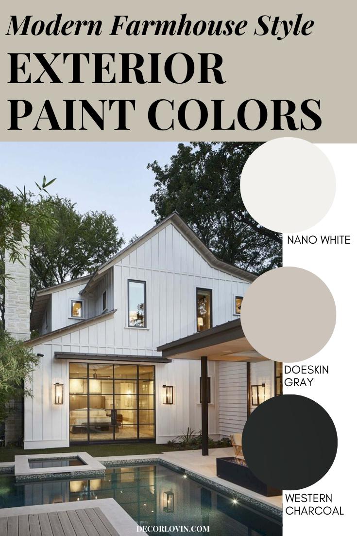 Modern Farmhouse Exterior Paint Combinations Modern Farmhouse Ext In 2020 Farmhouse Style Exterior Exterior Paint Combinations Exterior House Paint Color Combinations