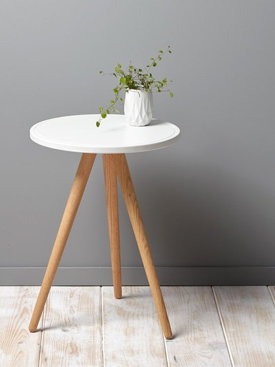 petite table 3 pieds - blanc+moutarde+vert - 1   design furniture