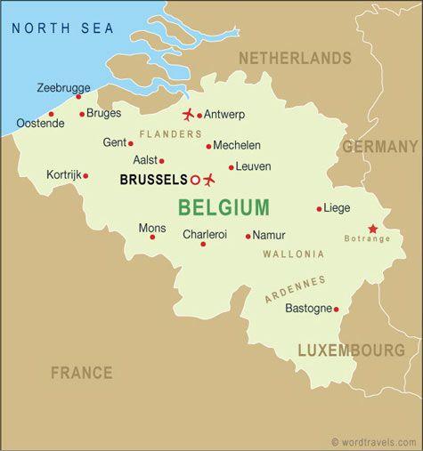 La belgique est dans la partie nordouest de leurope et les