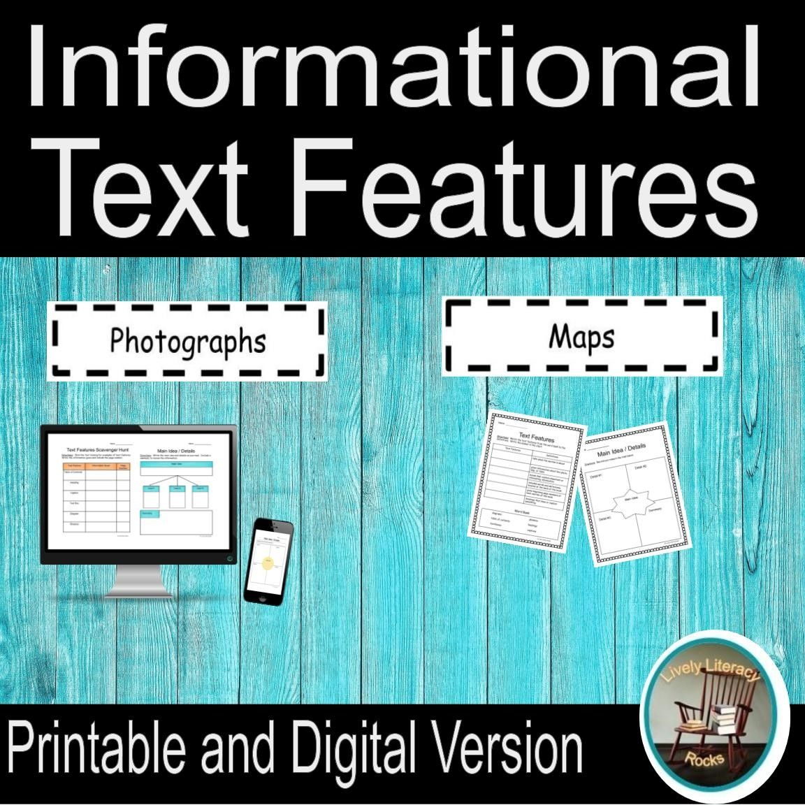 Nonfiction Text Features Distance Learning For