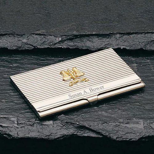 Amazon.com - Scales of Justice Stainless Steel Card Case - Business Card Holders