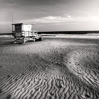 """Lifeguard Stand, Longport, NJ, by  Jana Perskie  (From """"Sand & Sea series"""")."""