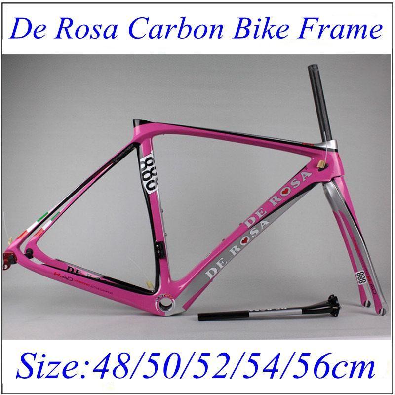 De Rosa Super King 888 Bike Frame Pink Bicycle Frame 3k Weave With ...