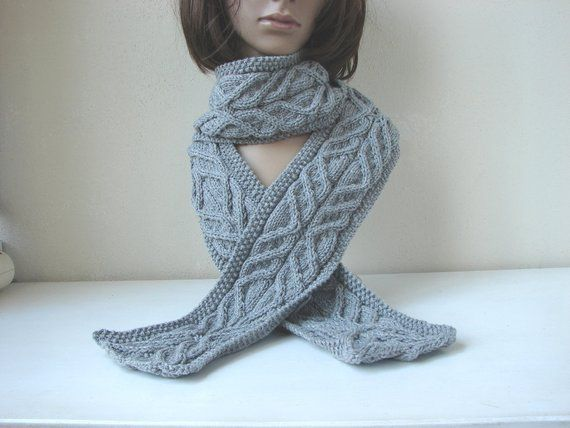 Knitting Pattern Scarf Knit Tutorial Scarf With Cables Aran