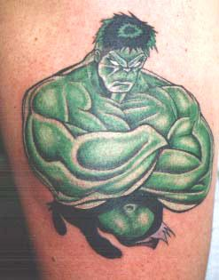 Increíble Hulk Tatuaje