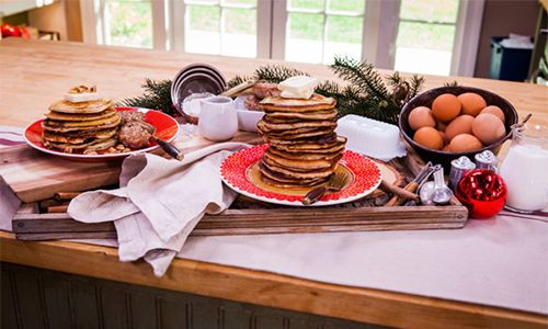 Home & Family - Recipes - Cristina Cooks Best Buttermilk Pancakes & Homemade Breakfast Sausage   Hallmark Channel