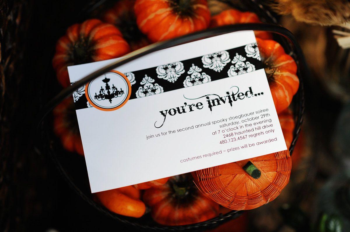 best halloween wedding invitations