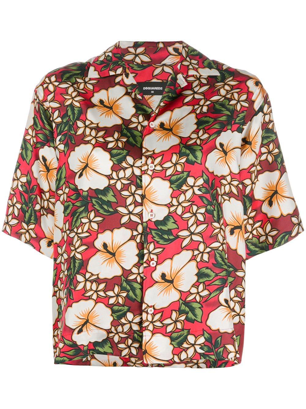 Dsquared2 Hawaiian Floral Print Shirt Multicolour Floral Print