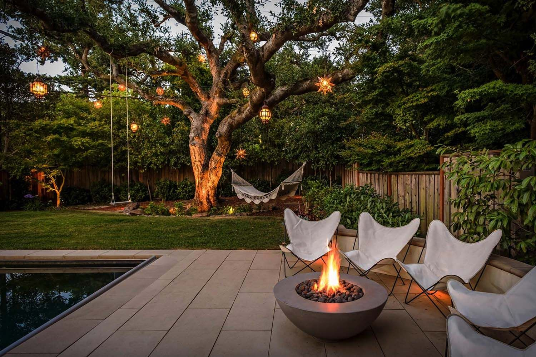 Mediterranean style home showcases a fabulous backyard makeover