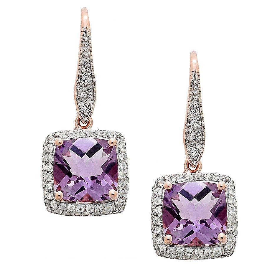 Rarities Fine Jewelry with Carol Brodie 8mm Cushion cut Pink ...