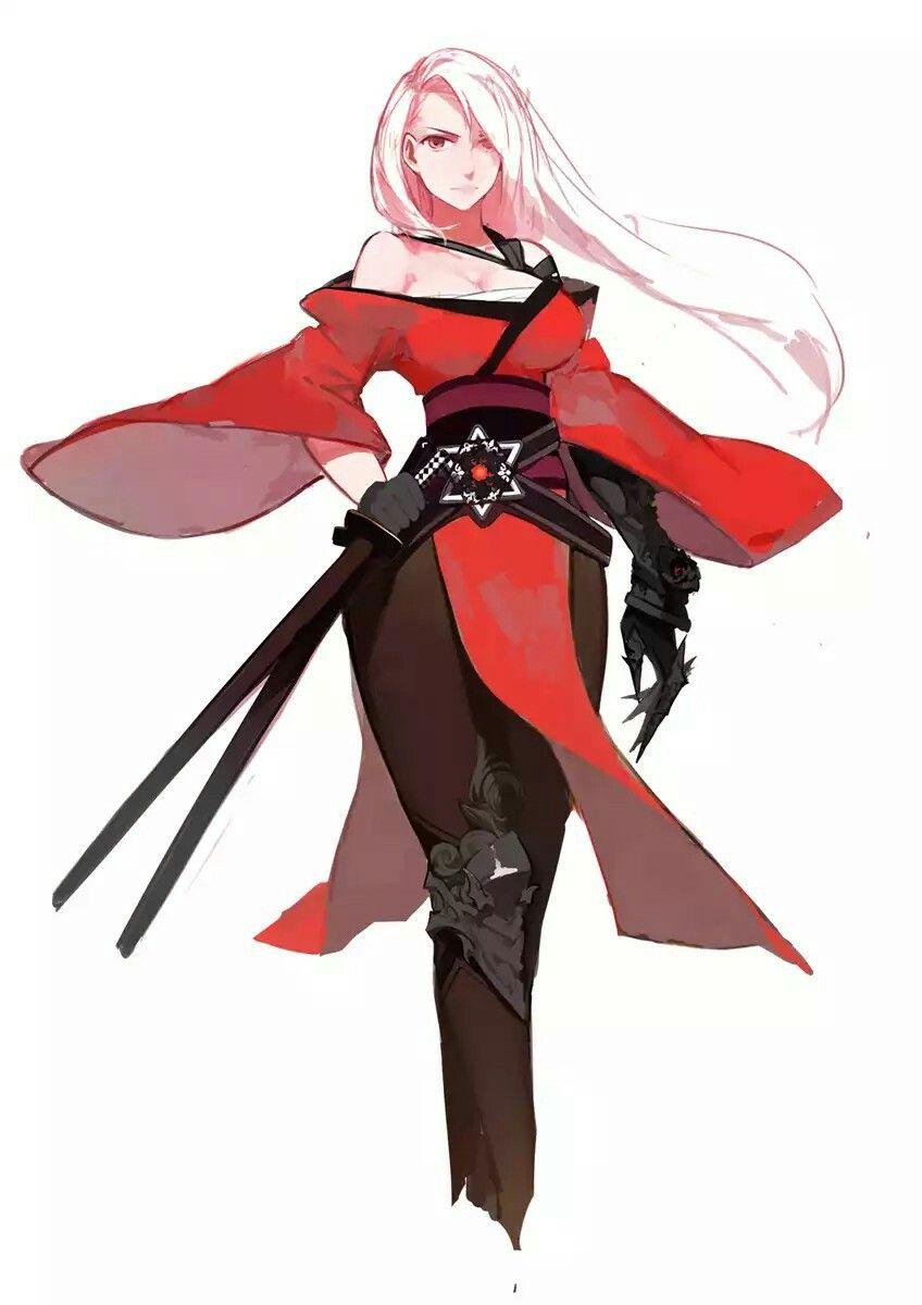 Shellz's female deadly swordsman form