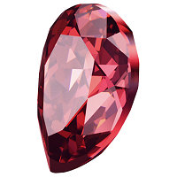 meticulous dyeing processes crazy price reasonable price New Swarovski Crystal Pearshape Stones Scarlet new Color ...