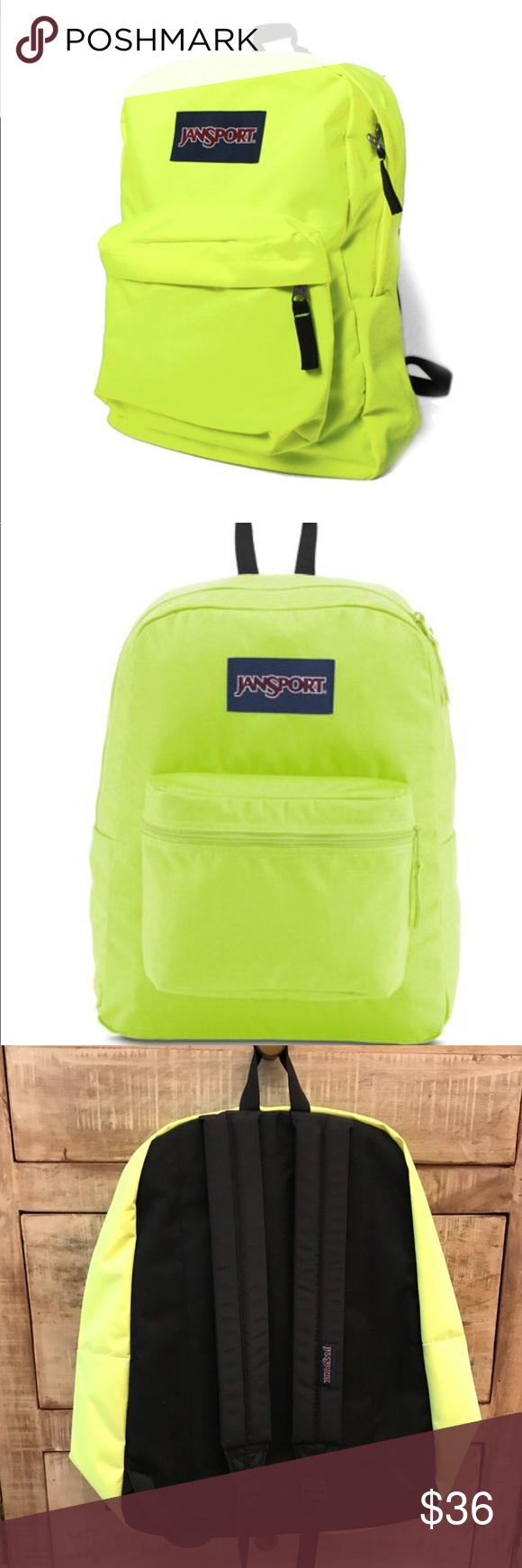 Neon Yellow Backpack Jansport | Sante Blog