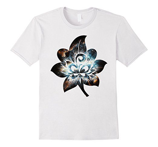 Flower Nebula Outer Space Stars Universe Spiritual T-Shirt Cool outline of flower with funky chill swirl bright tee.  #flower #nebula #outerspace #space #stars #universe #spiritual #shirt #tshirt #tee #artsy #psychedelic #altereduniverse #thirddimension