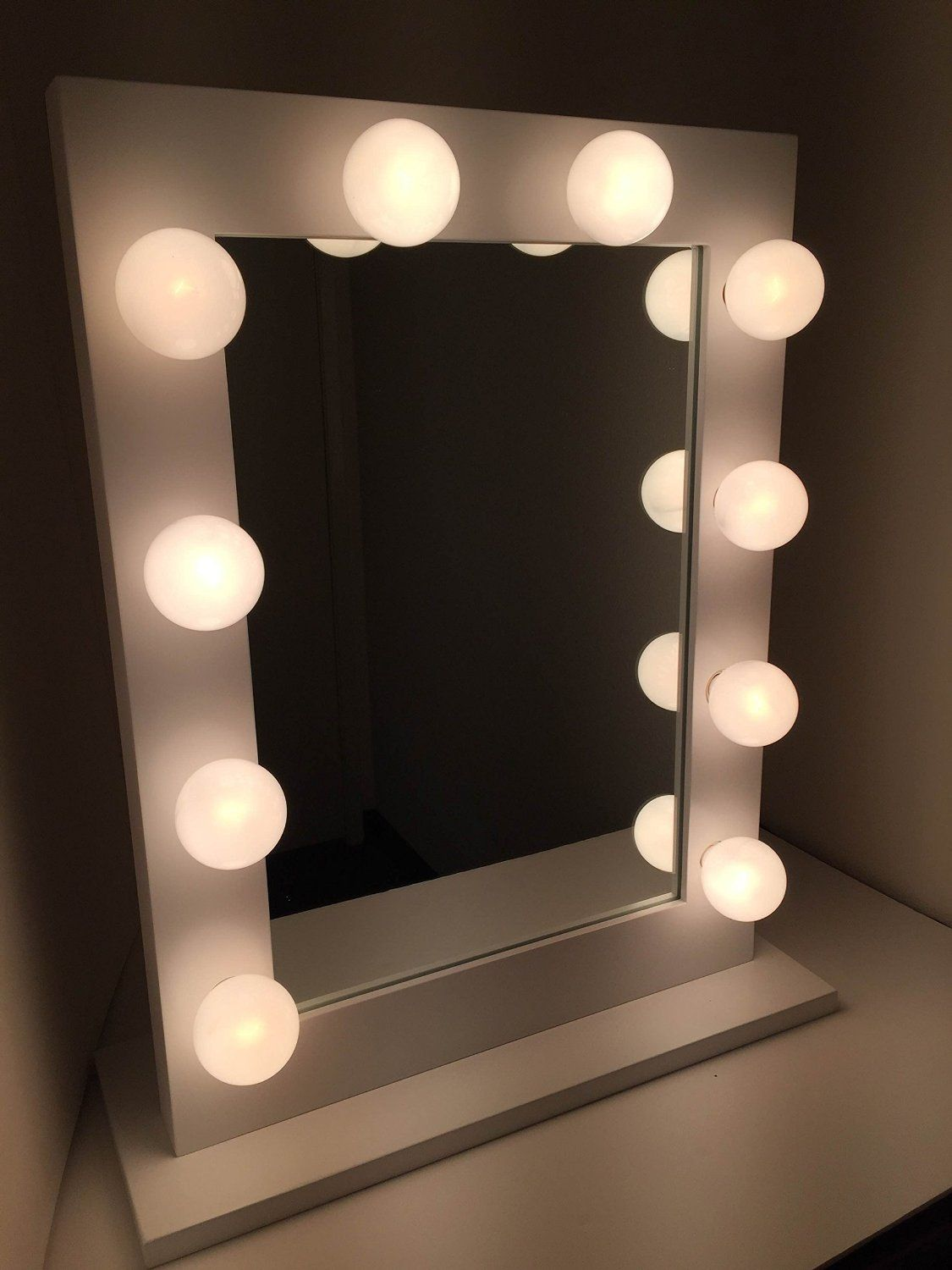 Chic Hollywood Lighted Makeup Vanity Back
