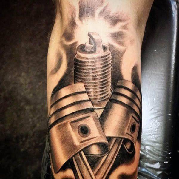 Photo of Piston and spark plug tattoos for men – corte de pelo – #corte # …