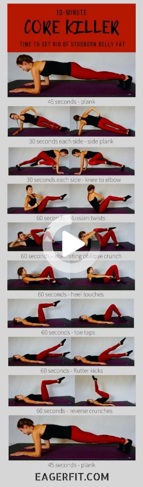 Dieses Coaching ohne Gerätekern bringt Ihre Bauchmuskeln zum Wackeln.