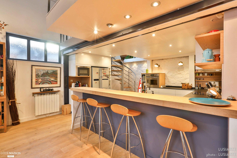 Cuisine Intégration Façon Loft IDF LUSIARTE Côté Maison - Cuisine cote maison pour idees de deco de cuisine