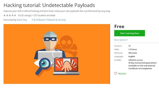 Coupon Udemy - Hacking tutorial: Undetectable Payloads [Free