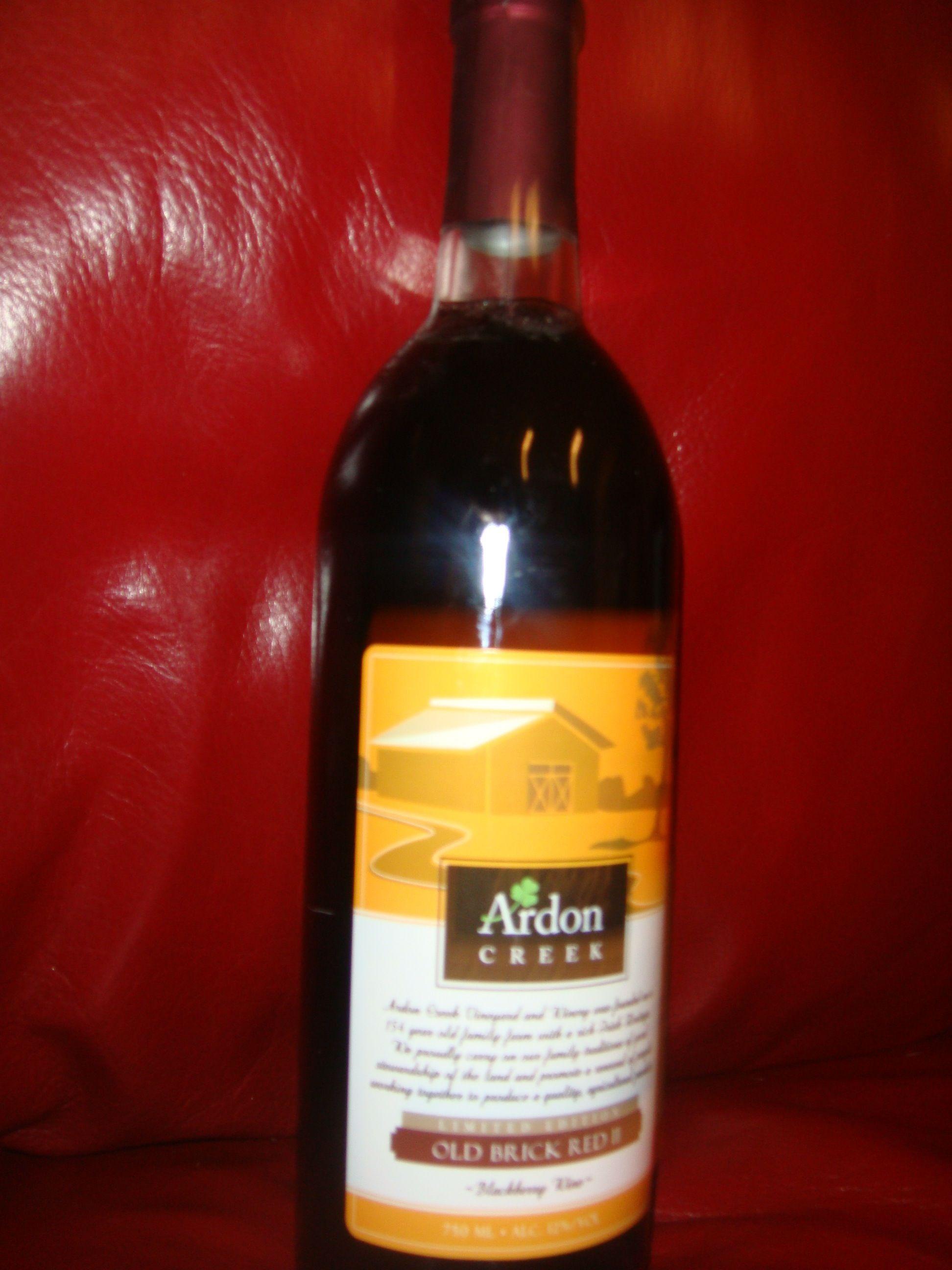 Old Brick Red Ii Blackberry Wine By Ardon Creek Blackberry Wine Wine Bottle Wine