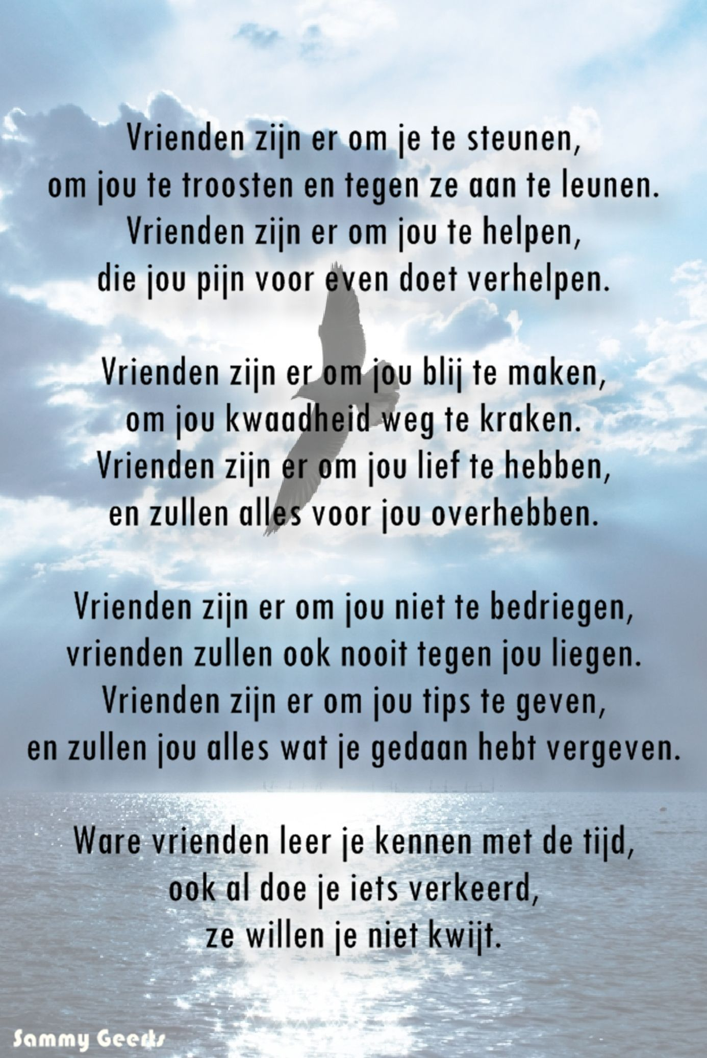 Pin Van Erikie Op Anka 40 Jaar Gedichten Teksten Vriendschap Gedichten
