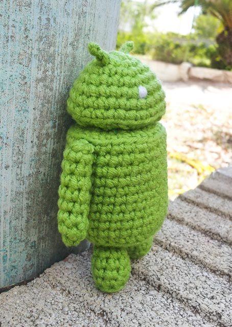 Robot Android - Patrón Gratis en Español aquí: http://www.crochet ...