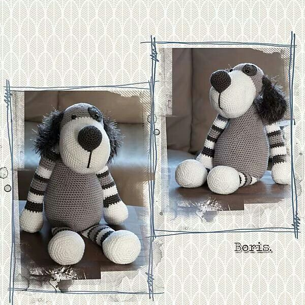 Hond Boris Stip En Haak Pinterest Knit Animals Crochet