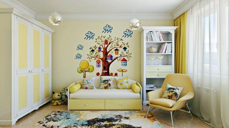 Habitaciones infantiles niña moderna ideas para ella Habitacion - muebles de pared