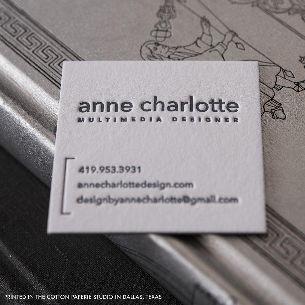 Letterpress Business Cards Gallery Cotton Paperie Letterpress