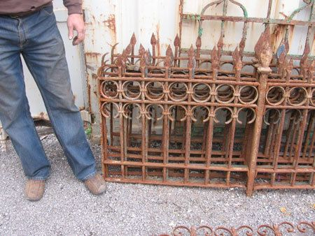 Antique Wrought Iron Fencing Railing 9 Ft X 29t 4 Avl
