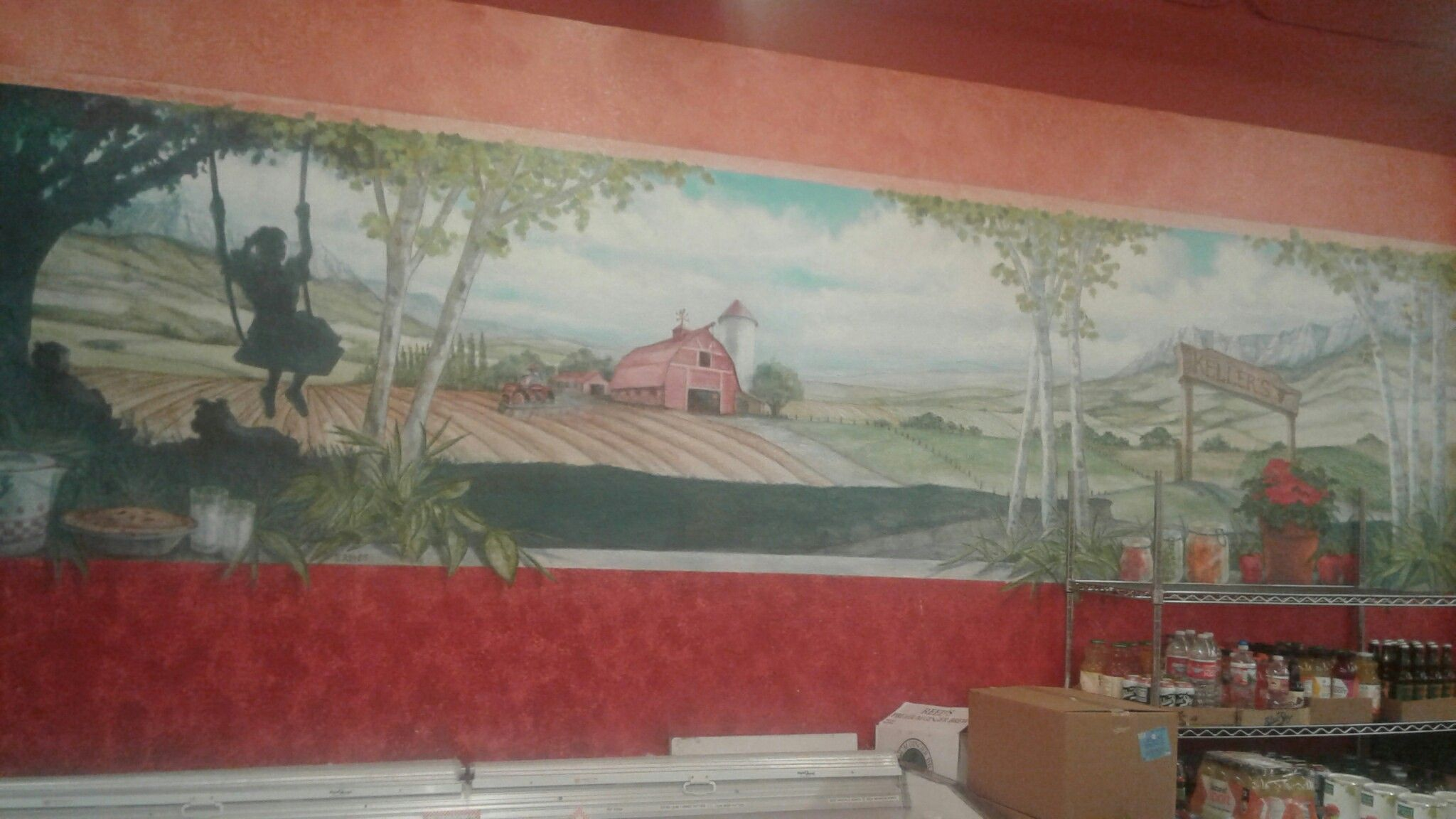 #farm #farmhouse #house #pie #milk #food #cookies #tree #children #art #nature #rurallife #rural #life #family #children #kids #painting
