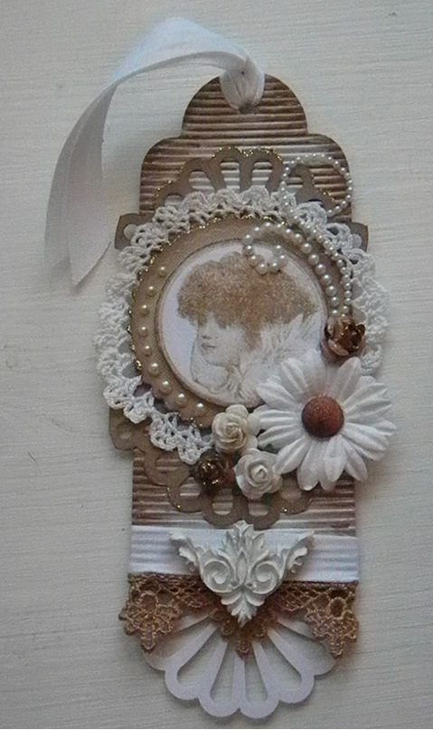 Beautiful scrapbook paper tag - find a range of embellishments and lace here http://shop.vibesandscribes.ie/