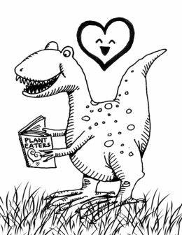 dinosaur valentines day  valentine coloring printable
