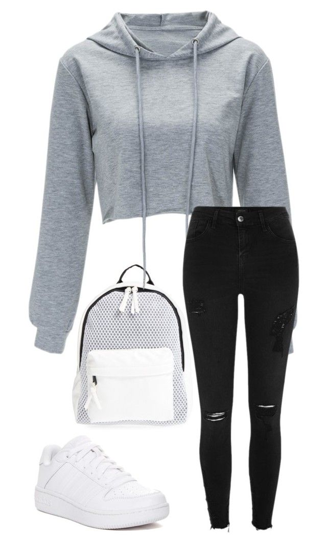"""524"" by mrswilkinson ❤ liked on Polyvore featuring Poverty Flats, River Island and adidas"