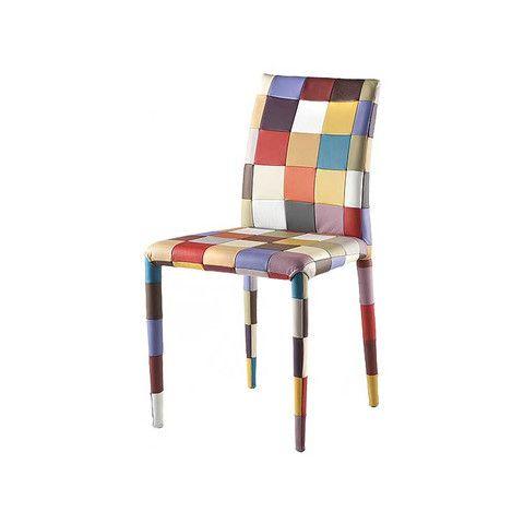 Kasala Modern Colorful Fun Leather Dining Chair