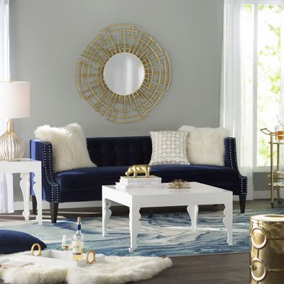 Beautiful Modern Navy Gold And White Living Room Gold Living