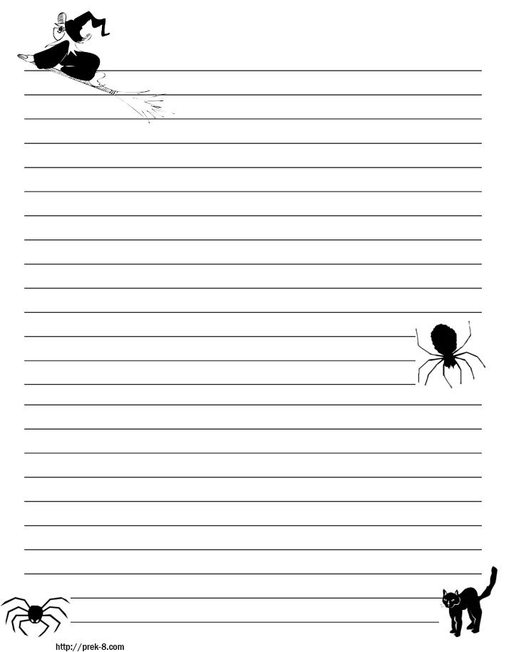 HalloweenStationery (710×915)  Free Printable Lined Writing Paper
