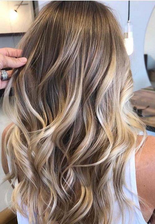 28 Natural Blonde Balayage Hair Color Ideas 2018 , 2019