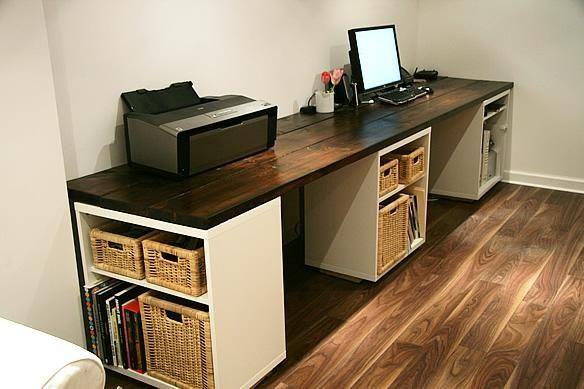 Am Besten In L Form Schreibtisch Ikea Hausburo Organisation Zuhause Diy Diy Schreibtisch Ideen