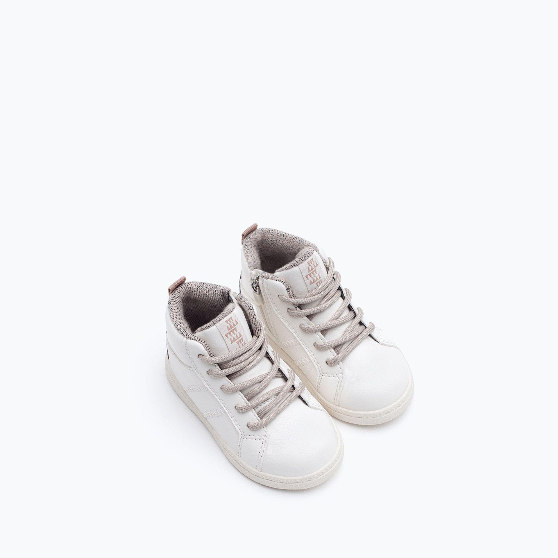Sportowe Botki Buty Niemowle Dziewczynka 3 Miesiace 3 Lata Dzieci Zara White Sneaker Kids Fashion