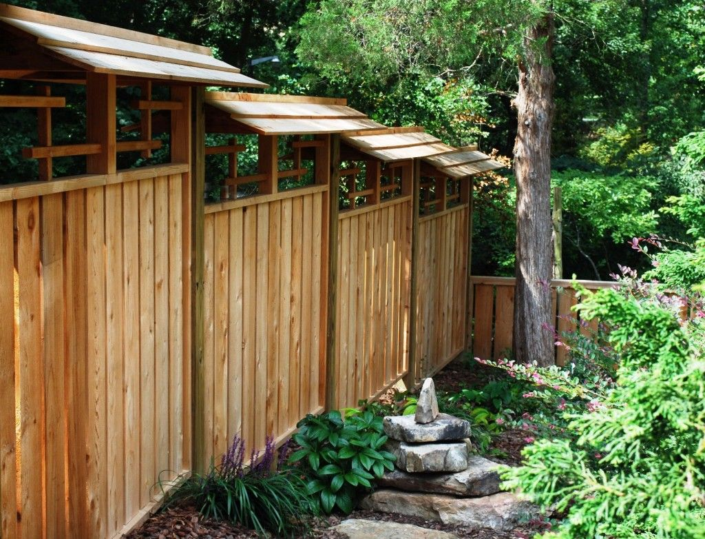 asian style fence japanese style gardens pinterest