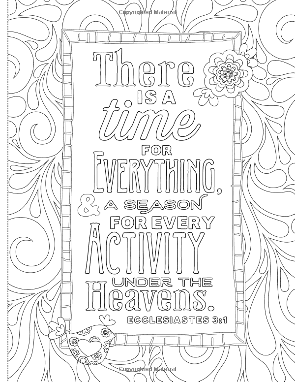 Inspiring Words 30 Verses From The Bible You Can Color Zondervan