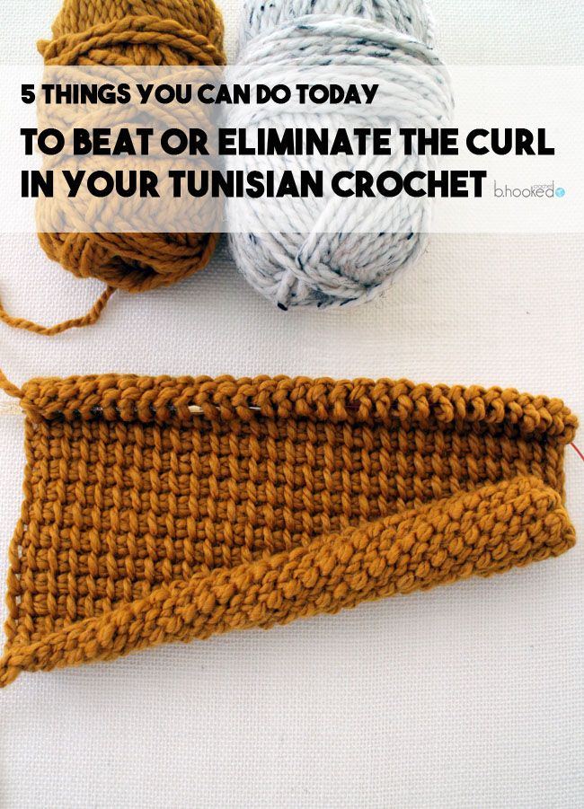 Five Ways To Eliminate Or Prevent Tunisian Crochet Curling Busy