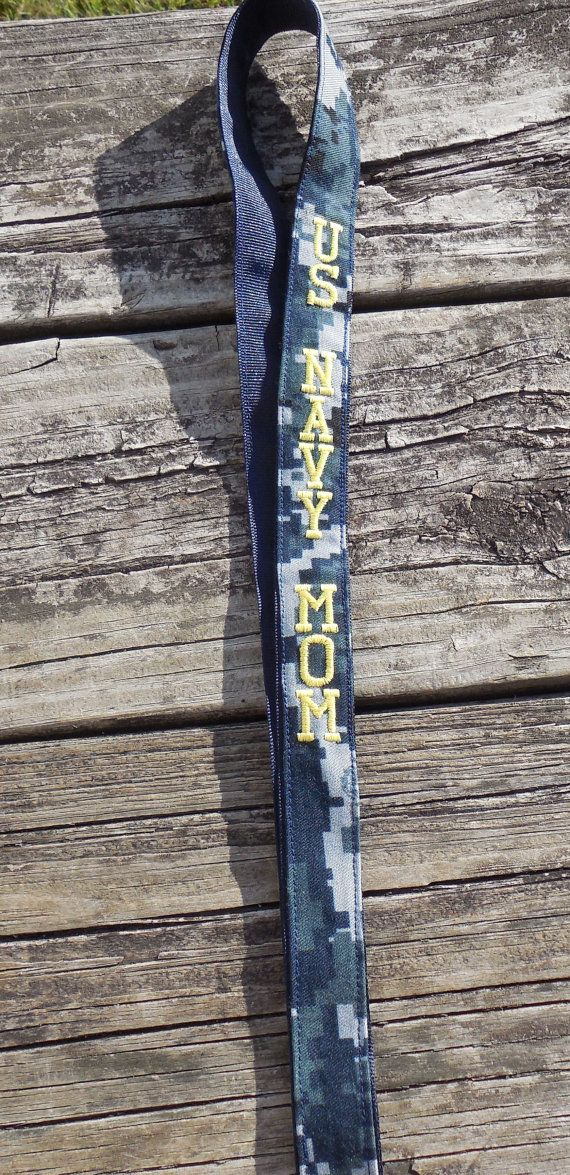 Us Navy Mom Navy Nwu Embroidered Lanyard By Gabbysquiltsnsupply Military Navy Mom Unique Items Products Navy Nwu