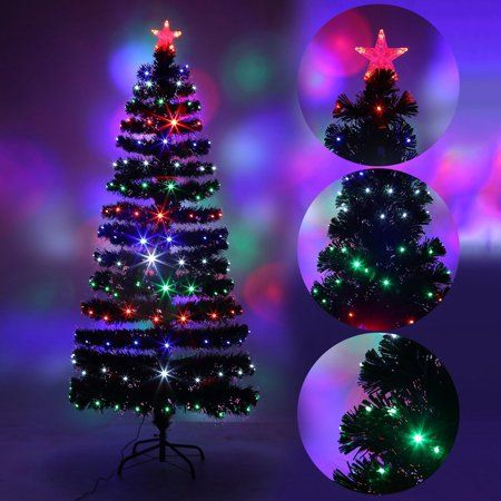 Holiday Festival Indoor Outdoor Four LED Color Changing LED Fiber